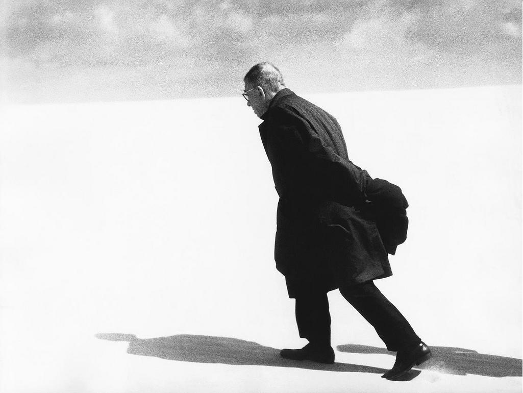 Jean-Paul Sartre Nida 1965 by Antanas Sutkus