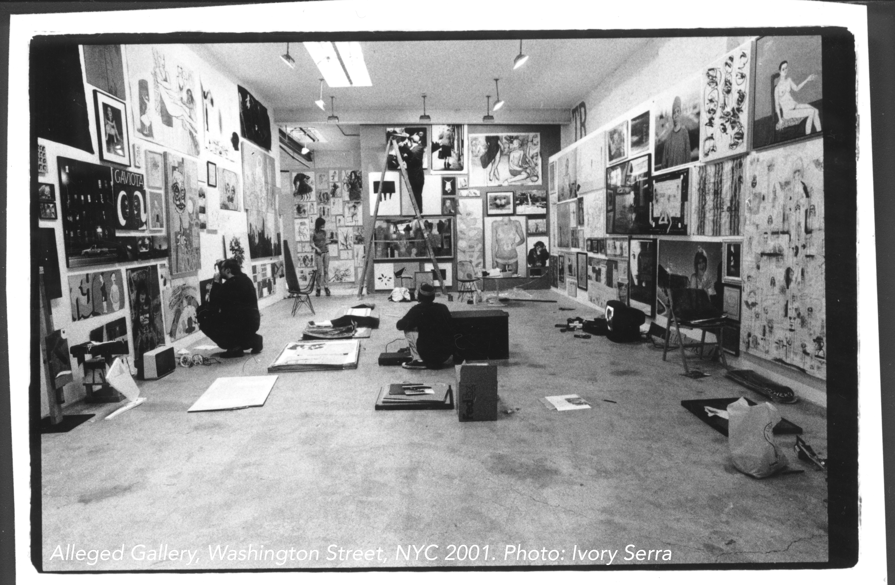 Alleged Gallery, Washington Street, NYC 2001. Photo: Ivory Serra