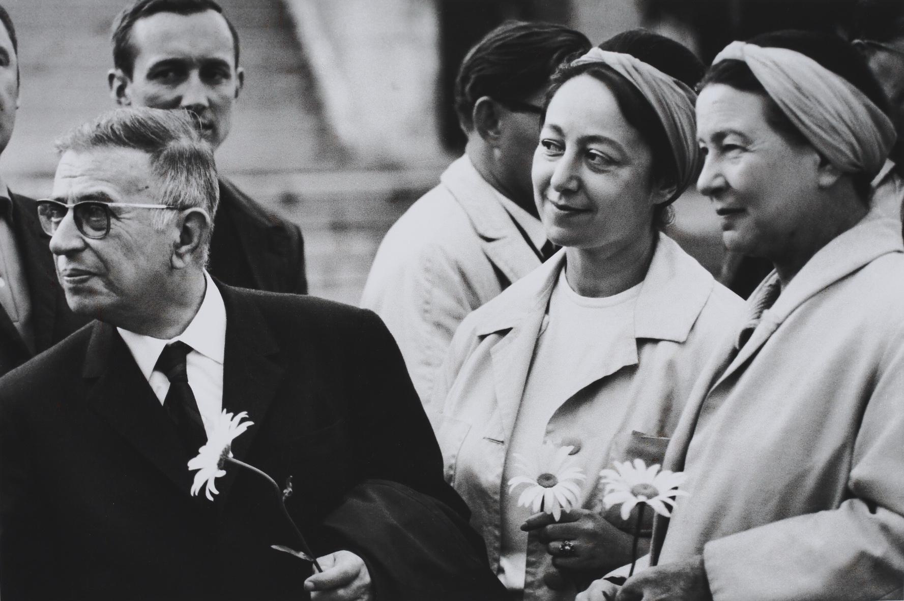 Jean-Paul Sartre and Simone de Beauvoir Nida 1965 by Antanas Sutkus
